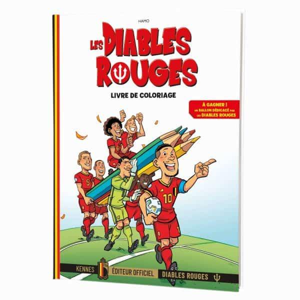 Diables rouges - livre à colorier