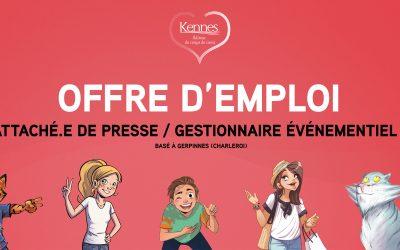 Offre d'emploi : Attaché.e de presse / Gestionnaire événementiel